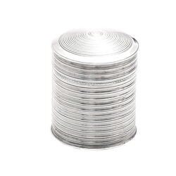 Zilveren lodereindoosje ribmotief