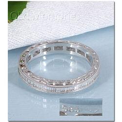 witgouden alliancering diamant baguette geslepen