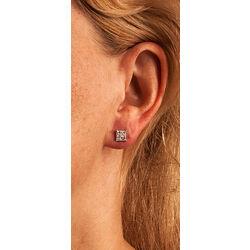 Witgouden oorbellen met diamant prinses slijpsel
