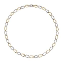 Boccia bicolor collier ronde open schakels 0847-02