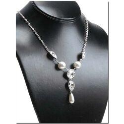 Zinzi ketting Swarovski parels en crystal