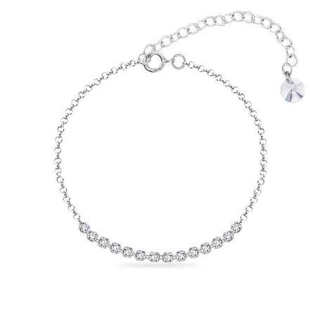 Spark zilveren armband brillante crystal