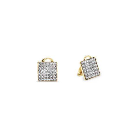 Spark vergulde oorbellen Kingdom crystal