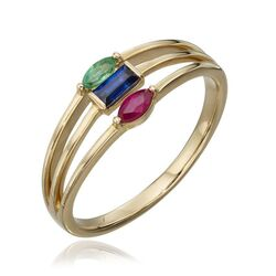 Elements Gold gouden ring tricolor