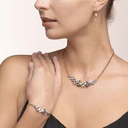 Coeur de Lion collier cluster goud zilver 5037-10-1617