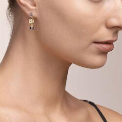 Coeur de Lion oorstekers cluster goud zilver 5037-21-1617
