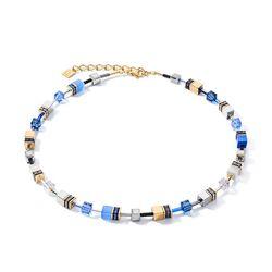 Coeur de Lion collier 2839-10-0716 blauw goud
