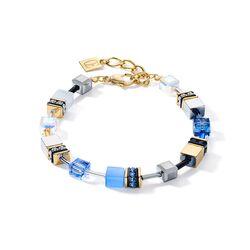 Coeur de lion armband blue gold 2839-30-0716
