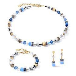 Coeur de Lion sieradenset Blue Gold 2839-0716