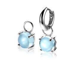 Zinzi zilveren oorbedels licht blauw ZICH2089B