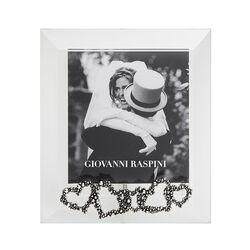 Giovanni Raspini fotolijst met zilveren hartjes 8,5 x 9,5 cm