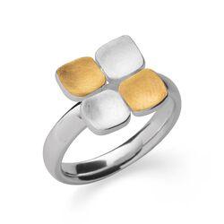 Bastian Inverun vierkante bicolor ring 38621