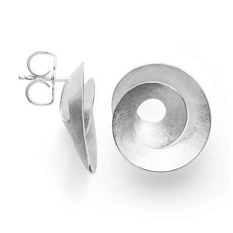 Bastian Inverun ronde oorstekers zilver 38541