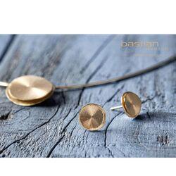 Bastian Inverun 18 karaats gouden oorstekers rond 37735