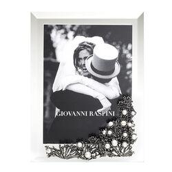 Giovanni Raspini zilveren fotolijst anemone met parels