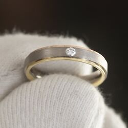 Christian Bauer gouden ring bicolor met briljant