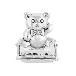 Zilveren tandendoosje met grote beer