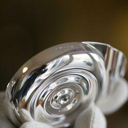 Ronde zilveren doopschelp