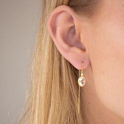 Julie Sandlau vergulde Fiona doortrek oorbellen crystal