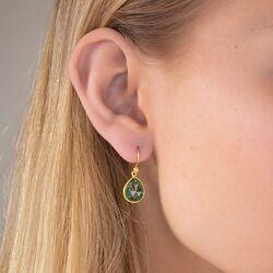 Julie Sandlau vergulde Aura oorbellen groen