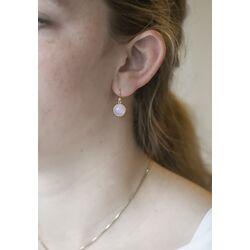 Julie Sandlau vergulde Primula oorhangers roze