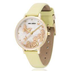 Julie Julsen verguld horloge Butterfly geel