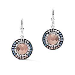 Coeur de Lion oorbellen 5068-20-0720 Amulet rosé lichtblauw