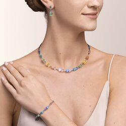 Coeur de Lion armband 5020-30-1522 kleur koppel multicolor paste zilver