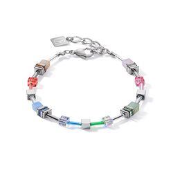 Coeur de Lion armband 5007-30-1522 multi pastel-zilver