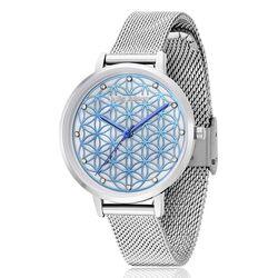 Julie Julsen horloge Flower of Life blauw