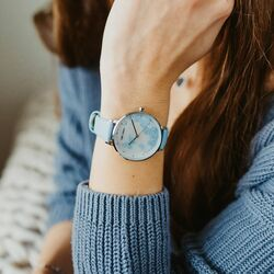 Julie Julsen butterfly horloge blauw