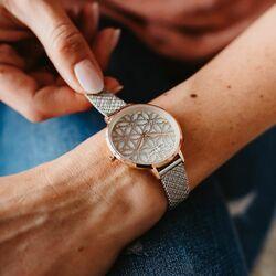 Julie Julsen Flower of Life horloge bicolor