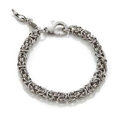 Zilveren armband Koningsschakel 20 cm
