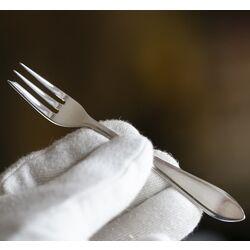 zilveren gebaksvorken puntfilet