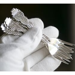 chique bruikbare zilveren gebaksvorken Koninklijke van Kempen & Begeer