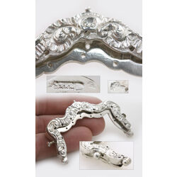 Beursbeugel zilver