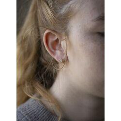 Gouden oorstekers solitair briljant