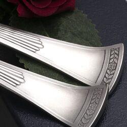 Stel zilveren groentelepels model Empire