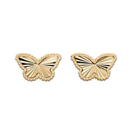 Elements Gold vlinder 9 karaats gouden oorstekers GE2349