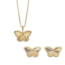 Sieradenset vlinders van Elements Gold