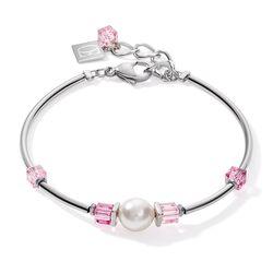 Coeur de Lion armband roze met zilverkleur 5046-30-1900