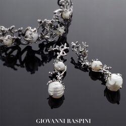 Giovanni Raspini oorhangers witte parels