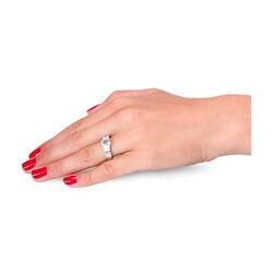 Witgouden ring aquamarijn 18 baguette geslepen diamanten