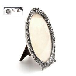Oud ovaal zilveren fotolijstje Zaanse Zilversmederij 1931 bol glas