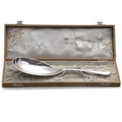 Prachtige zilveren rijstschep antiek filet A. Bonebakker Amsterdam 1938
