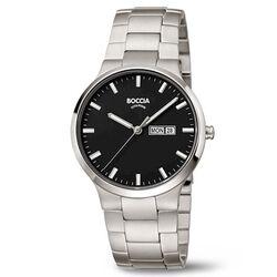 Boccia Titanium heren horloge zwarte wijzerplaat 3649-03