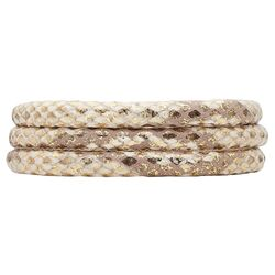 Christina leren armband 70 cm golden snake