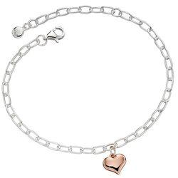 Little Star zilveren Thea armband rosé hartje