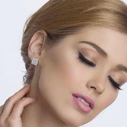 Spark zilveren Kingdom oorstekers crystal