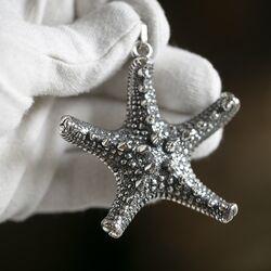 Zilveren hanger zeester Raspini
